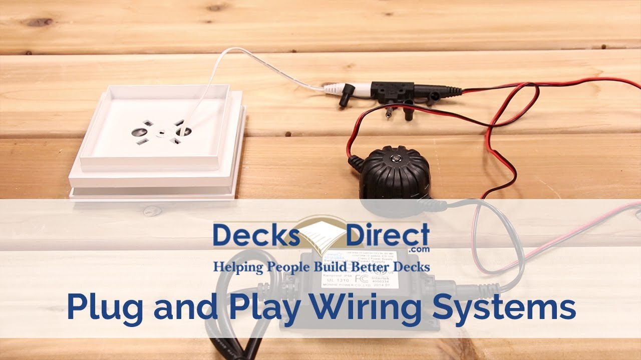 How To Install Deck Lighting Plug N Play System Light Harness Trex Wiring Diagrams