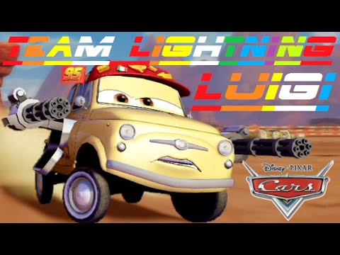Cars 2 - Team Lightning Luigi ( Friend From Lightning McQueen & Mater & Finn McMissile )
