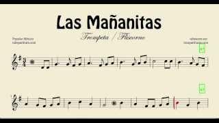 Las Mañanitas Partitura de Trompeta y Fliscorno