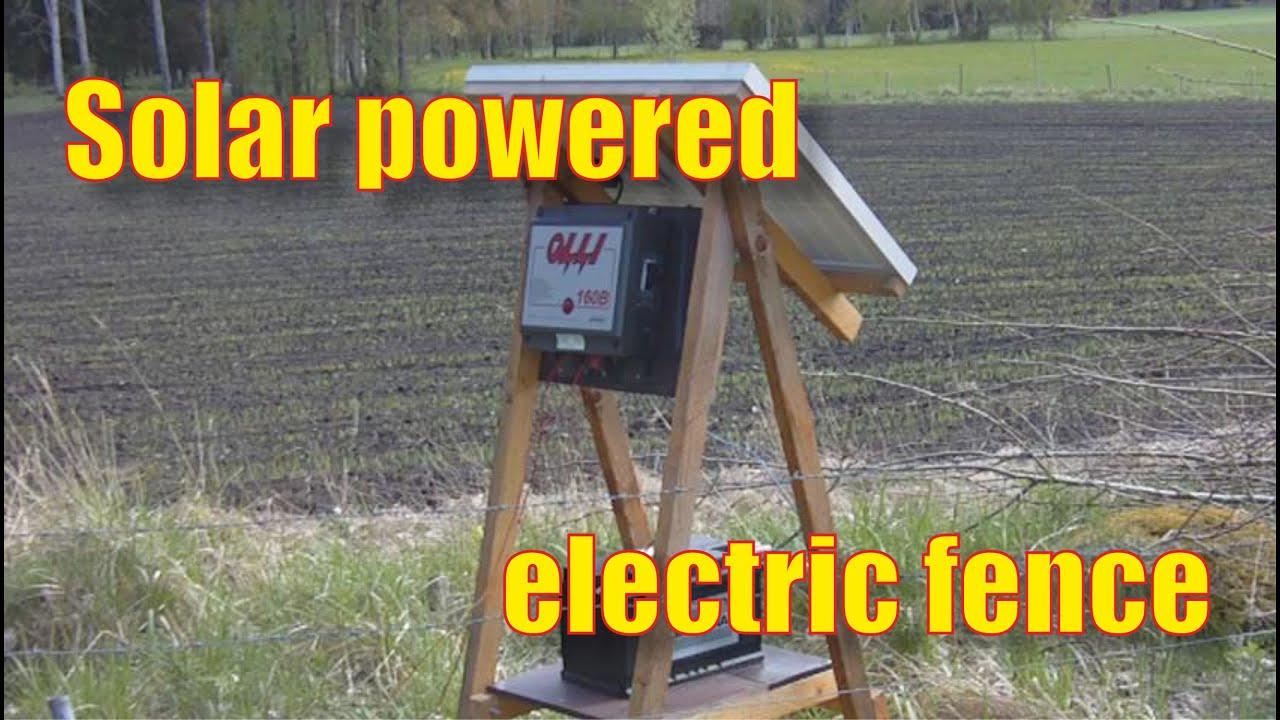 Prächtig Solarbetriebenes Weidezaungerät - Elstängselaggregat med solpanel @AN_89