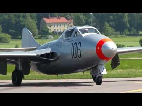 de Havilland DH.115 Vampire and Pilot Jan Andersson - long version.