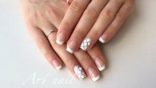 Стеганый Маникюр! Французский Маникюр( Френч) Nail Art Designs
