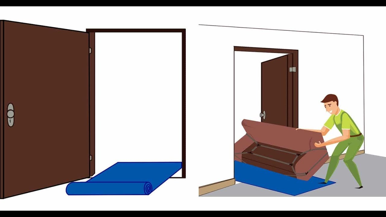 How can I get sofa furniture through a small door  Moving home tips & Hacks