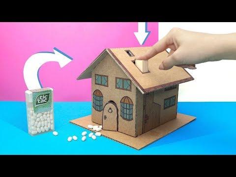 Wie man einen Tic-Tac-Spender aus Pappe macht