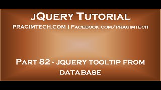 jQuery tooltip from database