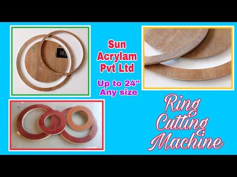 RING CUTTING MACHINE- Wooden, Wood, Plywood, MDF, Acrylic Circle Cutting Machine Manufacturer India