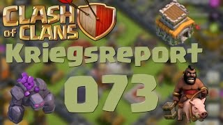 "COC [Kriegsreport #073] ""RH8 GoWiPe & Hogs"" | Let´s Play Clash of Clans [DEUTSCH]"