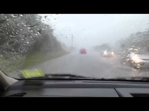 Hail in Mandeville Jamaica