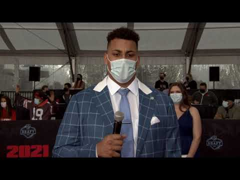 Rashawn Slater Interview Northwestern OT Is Los Angeles Chargers 2021 NFL Draft 1st Round Pick