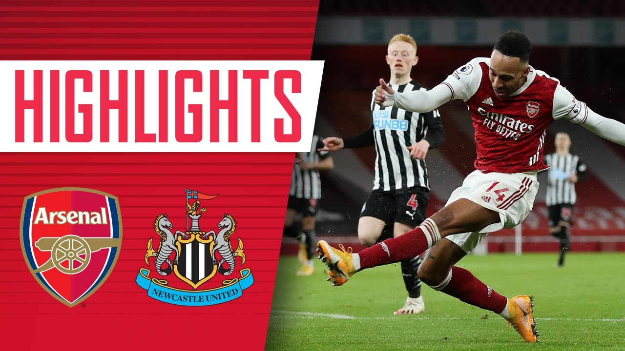 HIGHLIGHTS | Auba strikes twice and Saka nets! | Arsenal vs Newcastle (3-0) | Premier League