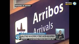 Visión 7: Aeropuerto de Ezeiza: Demora de vuelos por conflicto de maleteros