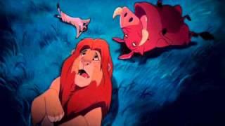 Simba, Timão e Pumba - as estrelas