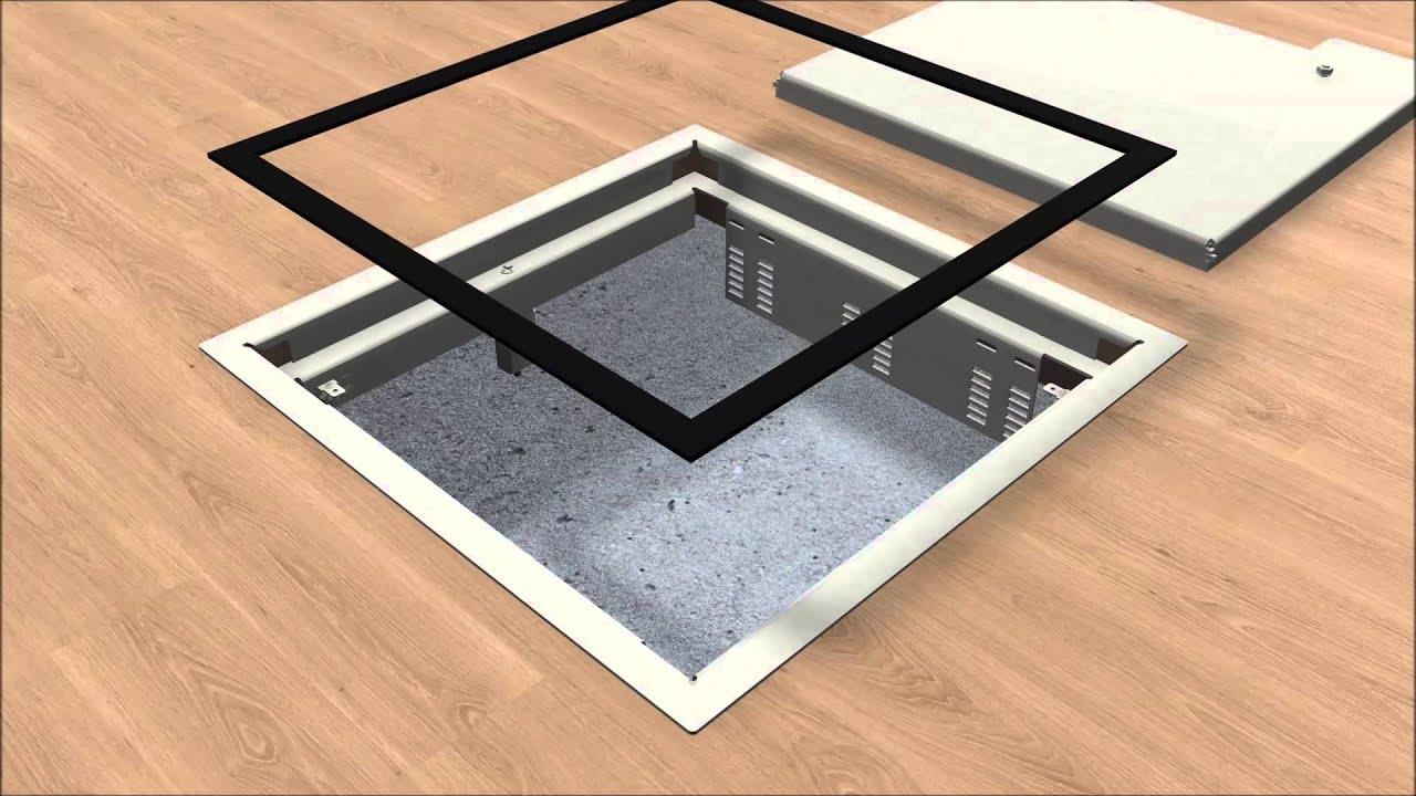 puk estrich berdeckte unterflurinstallation youtube. Black Bedroom Furniture Sets. Home Design Ideas