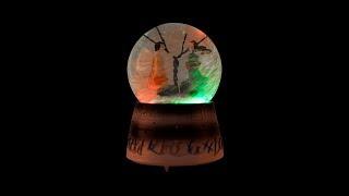 Işıklı Renk Değiştiren Müzikli Küre Dönence Kar Küresi Romantik Kış Masalı
