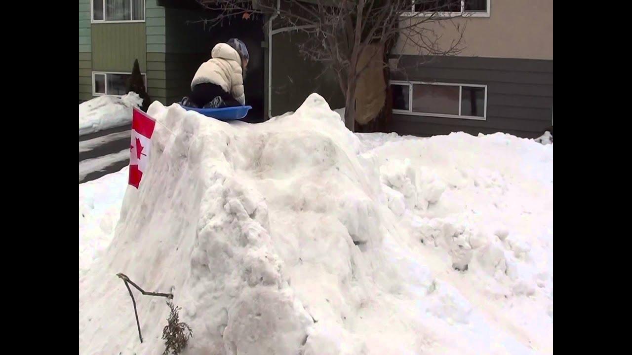 crazy snow sledding track youtube