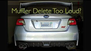 homepage tile video photo for Installing the STi MUFFLER DELETE!