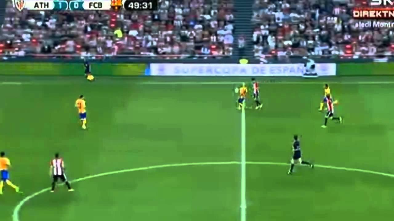 Pedro incredible miss | Athletic Bilbao vs FC Barcelona ...
