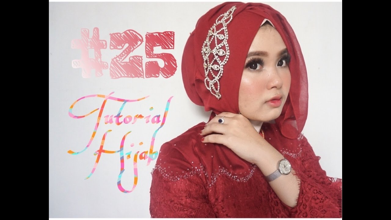 25 Tutorial Hijab Segi Empat Paris Wisuda Pesta Kondangan Simple