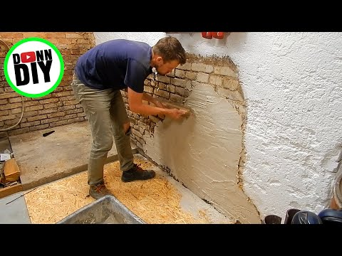 Cleaning Brick, Plastering Walls, Whitewash - Machine Shop Build Ep. 15