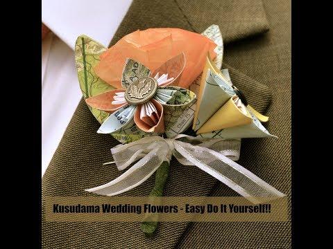 DIY Wedding Flowers   Paper Flowers   Kusudama Tutorial
