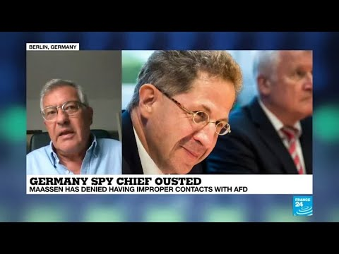 Germany ousts spy chief over handling of far-right protests