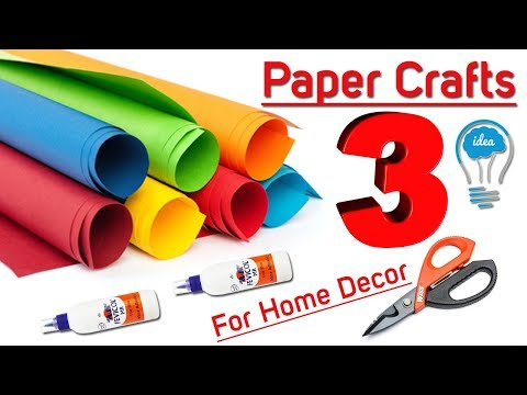 3 Awesome Home Decoration idea with paper | DIY Home Decor with Paper | Paper Craft DIY Home Decor