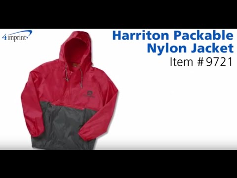 Harriton® Packable Nylon Jacket - Promotional Jackets at 4im