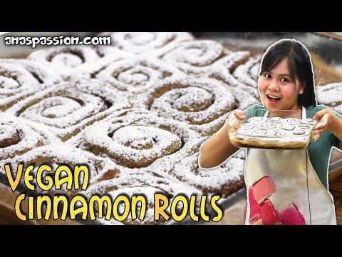 100% VEGAN Cinnamon Rolls   Light Healthy Vegan Dessert Recipe   Ana's Vegan Ideas 001