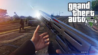 GTA V - Railgun Gameplay