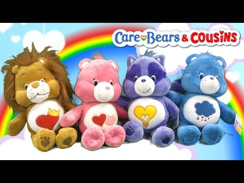 Care Bears Love-A-Lot Bear, Grumpy Bear & Bright Heart Raccoon & Brave Heart Lion from Just Play