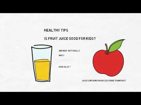 Healthy Tips - Should Kids Drink Fruit Juice?