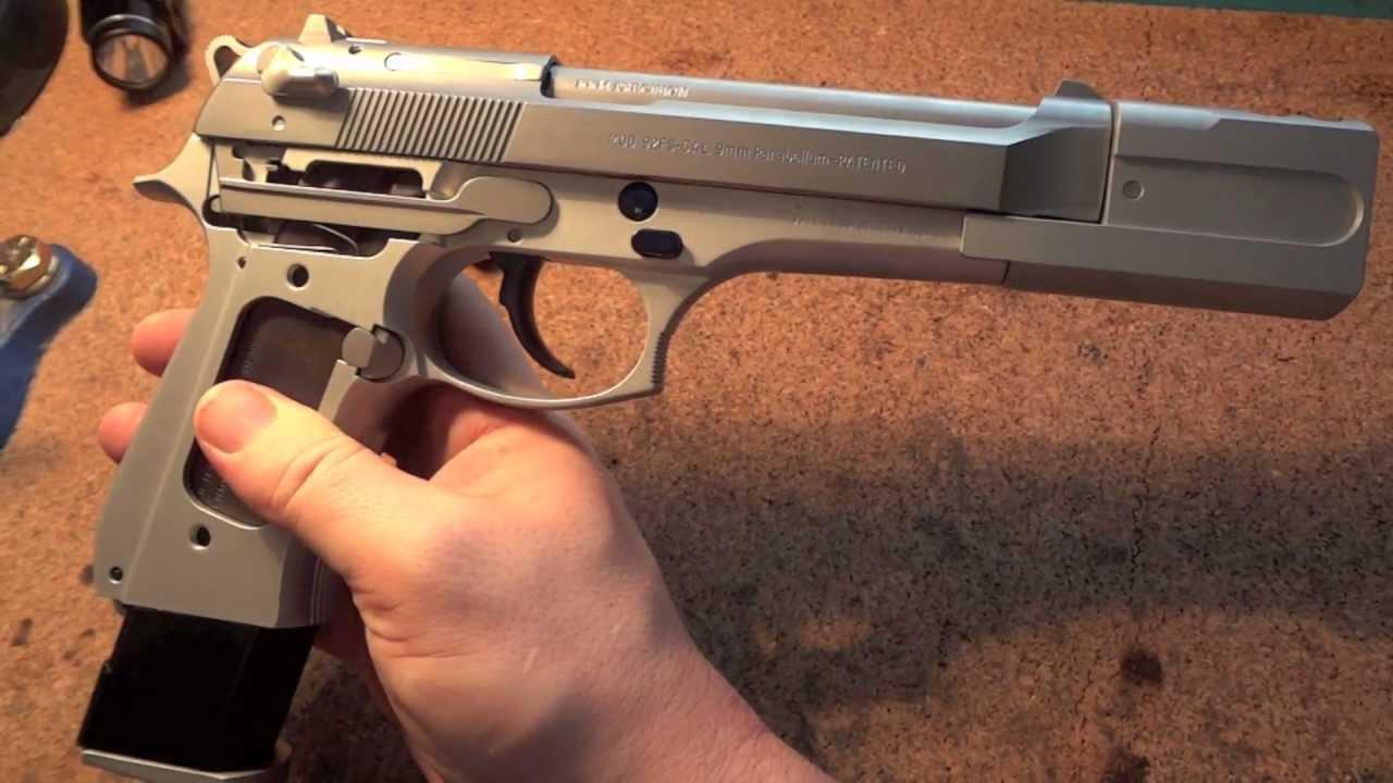 Beretta 92fs With CS Low Mass Trigger Set SGS Comp KKM Barrel And Nitre Blue Controls
