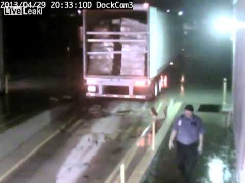 Truck Driver Forgets To Engage Parking Brakes, Gravity Ensues