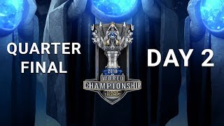 2018 World Championship Quarterfinal Day 2 | AFS vs. C9 - FNC vs. EDG