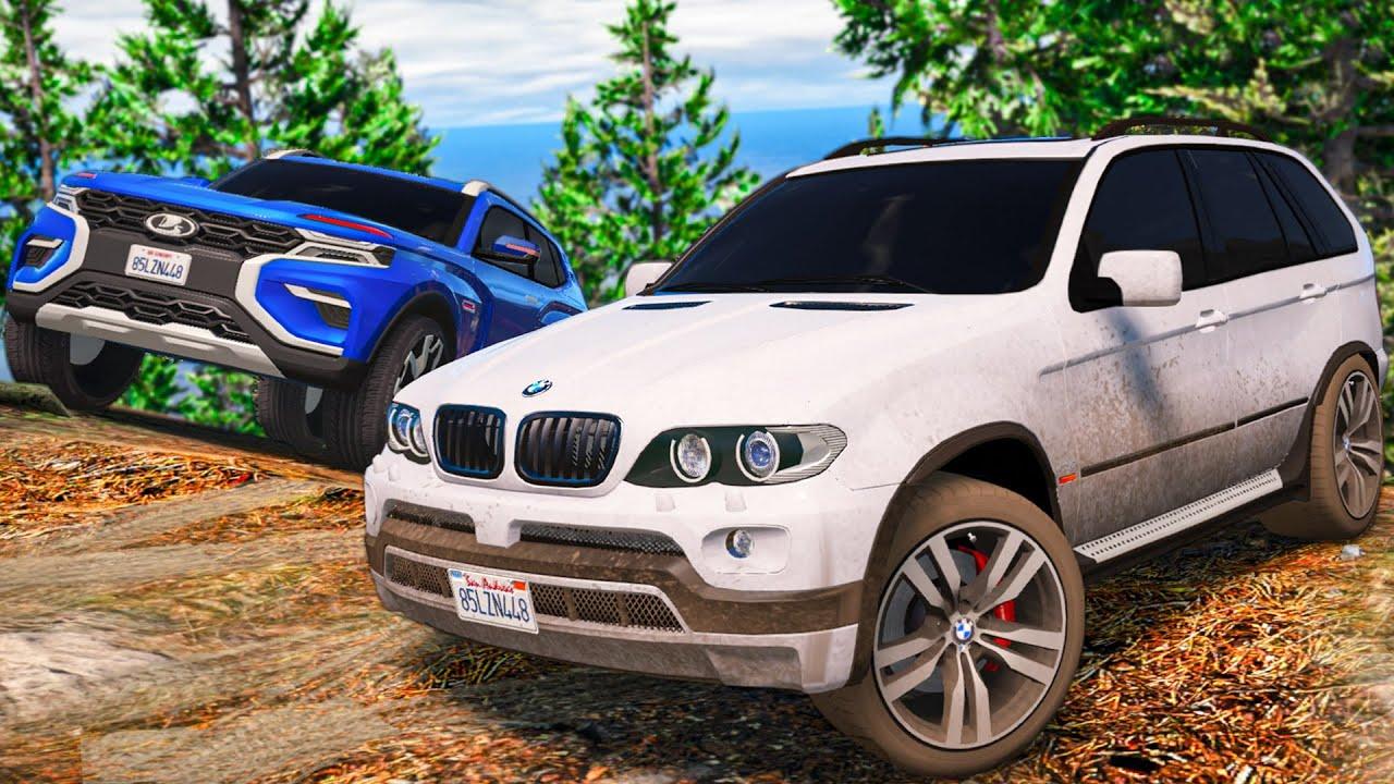 ЕДЕМ НА ОФФ-РОАД НА BMW X5 И НИВЕ! ЧТО СЛУЧИЛОСЬ С НИВОЙ УРБАН ГАРВИНА!? - РЕАЛЬНЫЕ ПАЦАНЫ В GTA 5