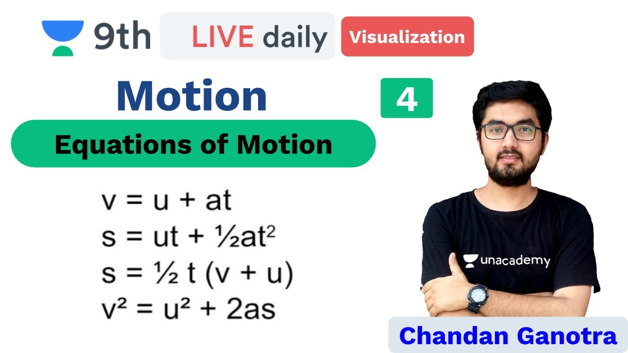 CBSE Class 9: Motion - L 4 | Visualizing Physics | Unacademy Class 9 and 10 | Chandan Ganotra