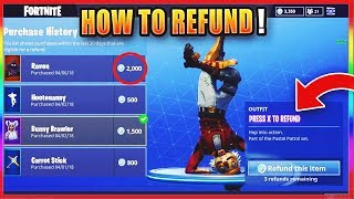 How To REFUND SKINS FOR VBUCKS! *WORKING* - Fortnite Battle Royale REFUND System For Free VBucks!