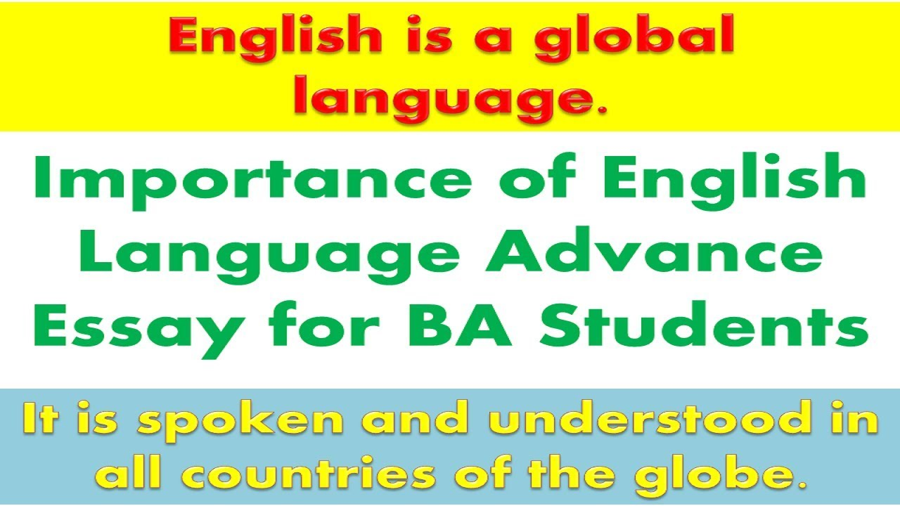 importance of english language advance essay for ba students  youtube importance of english language advance essay for ba students