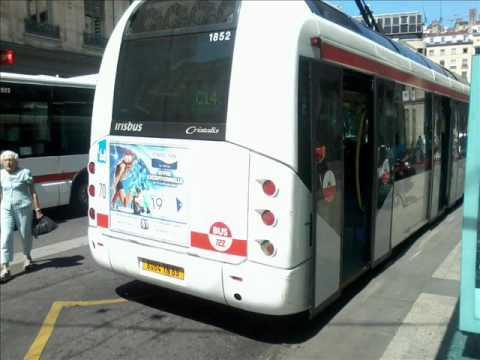 Sound Trolleybus Irisbus Cristalis ETB12 n� de TCL - Lyon sur la ligne C14