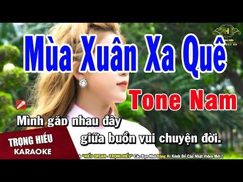 Karaoke Mua Xuân Xa Quê Tone Nam Nhạc Sống | Trọng Hiếu