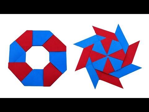 How to Make Transforming Paper Ninja Star || Origami Ninja Star || DIY
