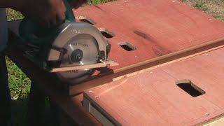 丸ノコのキックバックを防ぐ作業台を自作 thumbnail