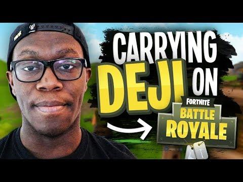 CARRYING DEJI on Fortnite Battle Royale