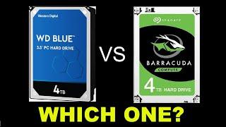 Seagate BarraCuda 4TB vs Western Digital Blue 4TB Spec and Performance Comparison