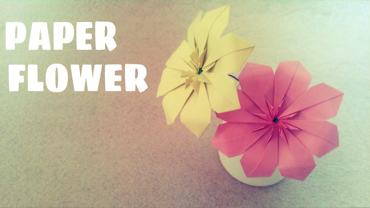 Easy origami flower origami easy youtube easy origami flower origami easy mightylinksfo
