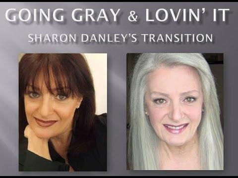 going gray lovin it sharon danley s transition youtube