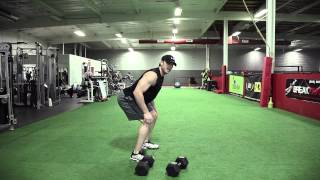 Workout 101 - Dumbbell Hang Clean into a Push Press - Instructional Workout Video (Mike McErlane)