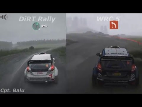 dirt rally vs wrc 5 graphics comparison youtube. Black Bedroom Furniture Sets. Home Design Ideas