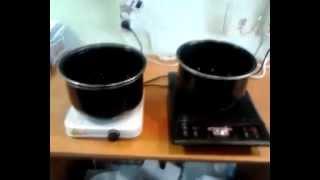 Сравнение индукционной плитки Лазурь 150 и электрической плитки Лазурь 110