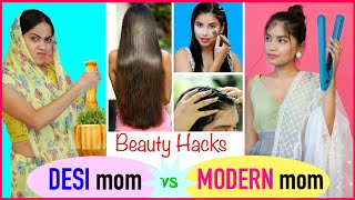 BEAUTY HACKS - Desi vs Modern Mom | Anaysa